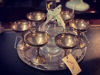 X6 Vintage Silver Goblets