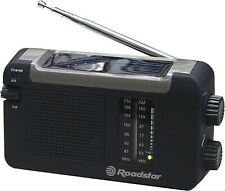 Roadstar TRA-500DS Portable Radio Wind Up Solar Battery Portable
