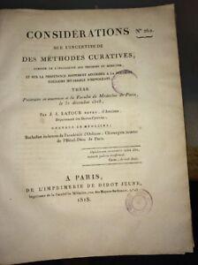 MÉDECINE.INCERTITUDE DES MÉTHODES CURATIVES. MÉDECINE. 1818.