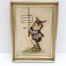 Bilder Ölgemälde Hummelfiguren Zahnarzt Doktor Zahnweh Zahnarzt