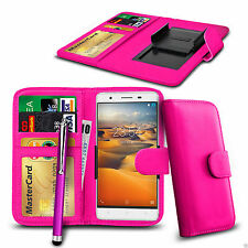 Clip On PU Leather Wallet Case Cover & Pen For Philips W8555
