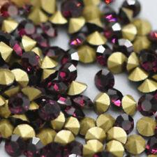 SS9 (2.4mm) Amethyst Point back Rhinestones Glass Chatons Nail Art 720ps U1
