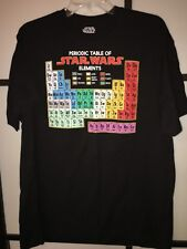 "Star Wars Periodic Table of Elements Men's Graphic T-Shirt Size X-Large 29""Long."