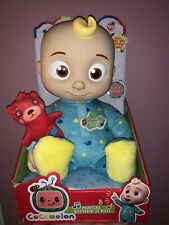 """BRAND NEW """"RARE"""" Cocomelon JJ Bedtime Soft Plush Doll Toy Sing Musical ON HAND"""