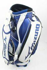 Mizuno Golf Tour Midsize Staff Bag White Blue 6-Way Top 8 Pockets w/Rain Cover