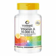 Vitamin A 10.000 I.E. 100 Tabletten Retinylacetat hochdosiert Warnke Vitalstoffe