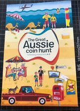 2019 THE GREAT AUSSIE COIN HUNT COMPLETE RAM UNC SET 26 A - Z COINS IN FOLDER