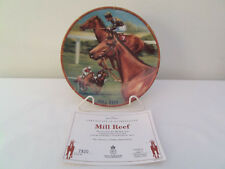 Royal Worcester Mill Reef Plate By Danbury Mint With Certificate