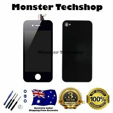 AU for iPhone 4 Black LCD Digitiser Touch Screen Front and Back Glass Assembly