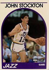 1989 NBA Hoops #140 John Stockton Utah Jazz Basketball Card Free Shipping