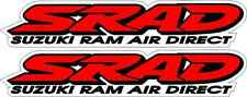 2 SRAD 600 750 Ram Air Direct Emblem Decals Stickers Graphics Fairing Decal red
