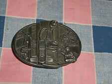 f2. Belt Buckle 1988 American Communications Industy  Siskiyou  Made in USA