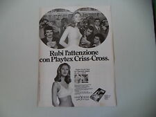 advertising Pubblicità 1973 REGGISENO PLAYTEX CRISS CROSS