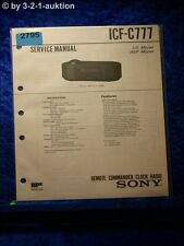 Sony Service Manual ICF C777 (#2795)