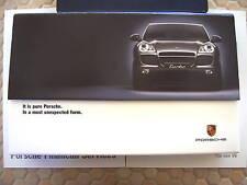 PORSCHE CAYENNE V6 S TURBO PROMOTIONAL VIDEOTAPE BROCHURE 2003 USA EDITION.