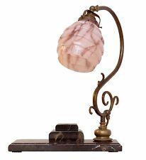Unicum Original Type Deco Bauhaus Bankers' Lamp Bankers Lamp Desk Marble