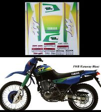 Kit adesivi decal stickers  yamaha xt 600 e 3tb 1992 Mod giallo verde