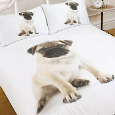 Dreamscene Luxuriously Soft Animal Pug Duvet Cover Bedding Set With Pillowcases