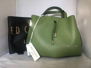 Red Cuckoo Bag Cross Body Green Grab Bag With Dust Bag New With Tags Handbag