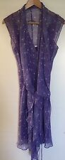 Diane Von Furstenberg Silk Lilac Dress - Size 6