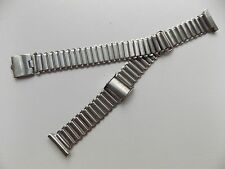 Clean WW2 Era CLEWCO Adjustable Watch Strap (Bonklip style) 17mm ends.