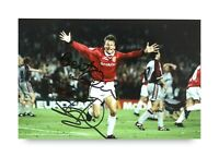 Teddy Sheringham Signed 6x4 Photo Manchester United Autograph Memorabilia + COA