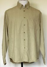 Columbia Sportswear GRT Beige Brown Plaid Button-Front L/S Poly Modal Shirt M