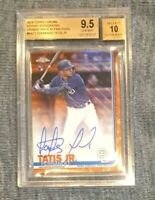 Fernando Tatis Jr 2019 Topps CHROME BGS 9.5 /10 ORANGE #D /25 AUTO RC LOGO $340M