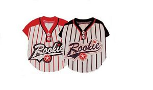 """Baseball Rookie Dog Costume In Blue Or Red Color MVP """"Most Valuable Pup"""""""