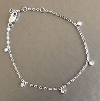 9ct White Gold Solitaire Diamond Eternity Bracelet 0.15ct By Yard Charm