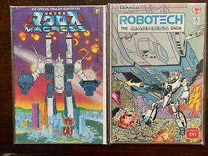 Macross #1 and 2 Comico 1984 TV Robotech