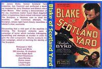 blake of scotland yard. CLIFFHANGER SERIALS ..complete