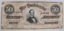 1864 Confederate States of America $50 Note, T-66, Uncirculated
