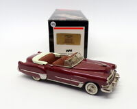 Western Models 1/43 Scale WMS68X - 1949 Cadillac Conv S62 - Deep Met Red