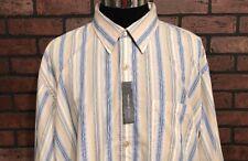 Van Heusen Studio Men's Dress Shirt Striped Size 2XL 18-18 1/2
