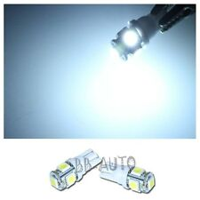 2X WHITE T10 Wedge 5-SMD 5050 LED Light Bulbs HID Xenon W5W 192 168 194