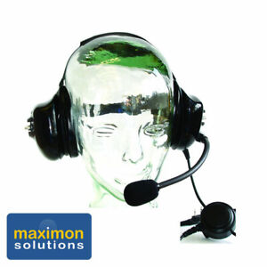 Max-102 Noise Cancelling Headset with PTT for Kenwood 2 way Radios