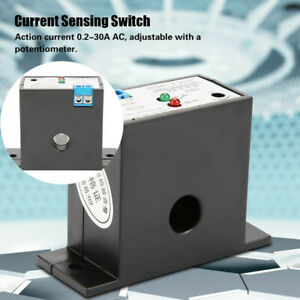 High Power Normally Open Current Sensing Switch Control Adjustable AC 0.2A-30A