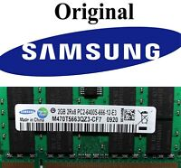 4GB ( 2 X 2GB ) Samsung  Notebook RAM DDR2 SO DIMM 800 Mhz PC2 6400 Laptop