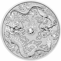 2019 Double Dragon 1oz Silver Bullion Coin