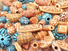 50 X Exotic Design Beads - Various Shapes Sizes Jewellery Hair Braiding Fashion