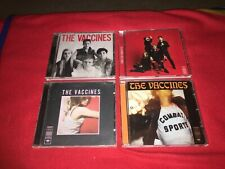 THE VACCINES - 4 CD ALBUMS - COME OF AGE - COMBAT SPORTS - ENGLISH GRAFFITI