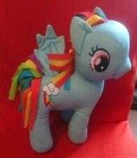 "Hasbro My Little Pony 12"" Rainbow Dash Blue Soft Plush Toy Unicorn 2016"