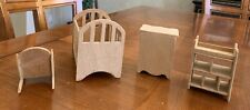 Wooden Doll House Miniature Baby Nursery Furniture
