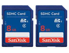 2 PACK - SanDisk 8GB Class 4 SD SDHC Flash Digital Camera Memory Card Lot + CASE