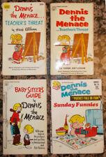 DENNIS THE MENACE Lot of 4 Paperbacks 1960s Teacher's Threat Babysitter's Guide