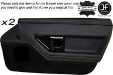 GIALLO Stitch 2X PORTA ANTERIORE IN PELLE DECORAZIONE carta copertura della pelle si adatta Corvette C4 84-90