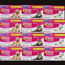 JOHNSONS 4FLEAS 6 TABLETS PACK START TO KILL PET CAT/KITTEN/DOG FLEAS IN 15 MINS