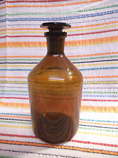 Rare Vintage Schott & Gen Jena Glass Apothecary Lab Bottle With Unusual Stopper