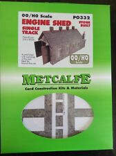 Metcalfe Kit PO332. Engine Shed (single track) Stone Built. 00 Scale.